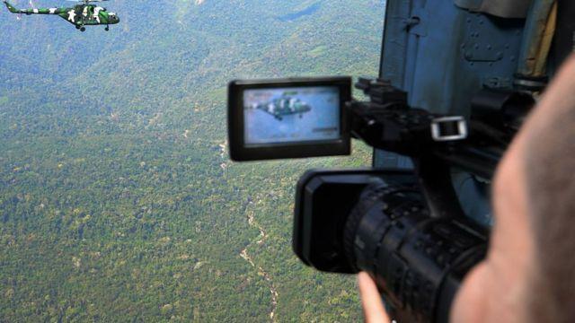 Operativo de vigilancia sobre el Vraem.