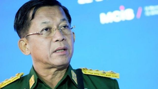 General Min, leader of the coup