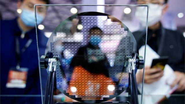 Exhibición de un semiconductor en la feria Semicon China