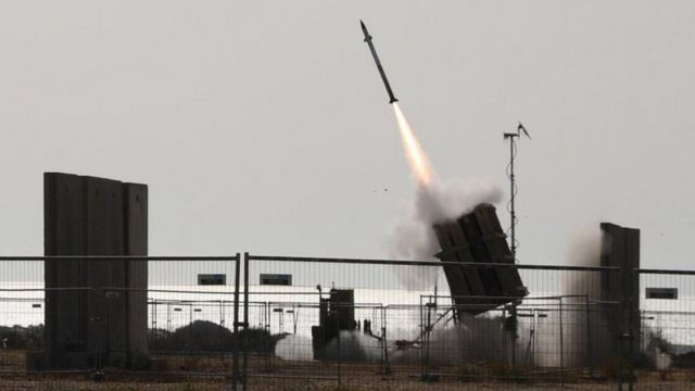 Iron Dome launches a missile