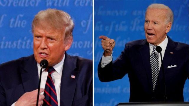 Donald Trump y Joe Biden en el primer debate presidencial