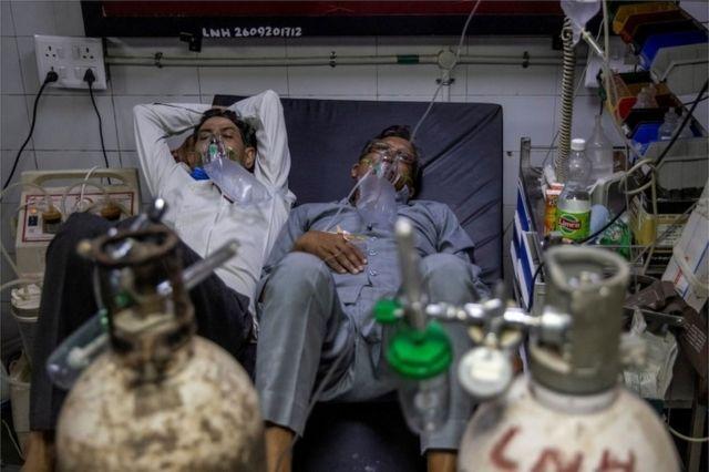 코로나19로 인도 병원이 마비됐다