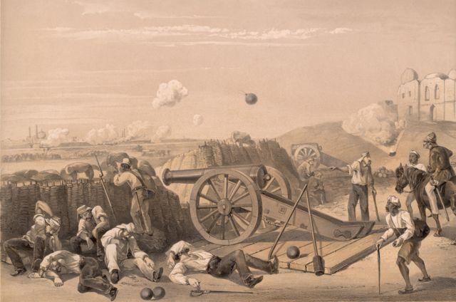 ১৮৫৭য় অবিভক্ত ভারতে সিপাহী বিদ্রোহের সময় দিল্লিতে লড়াইয়ের একটি দৃশ্য