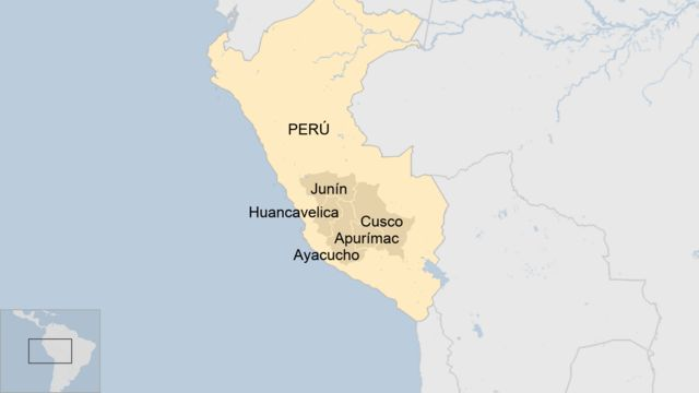 Distritos peruanos por los que se extiende el Vraem.