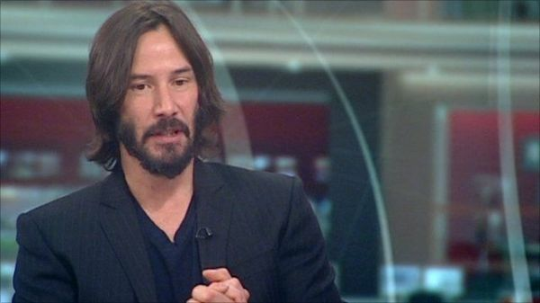 Actor Keanu Reeves discusses guns in movies - BBC News