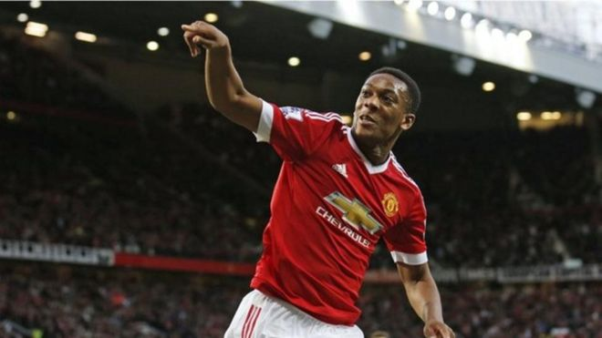 Winga wa Manchester United Anthony Martial