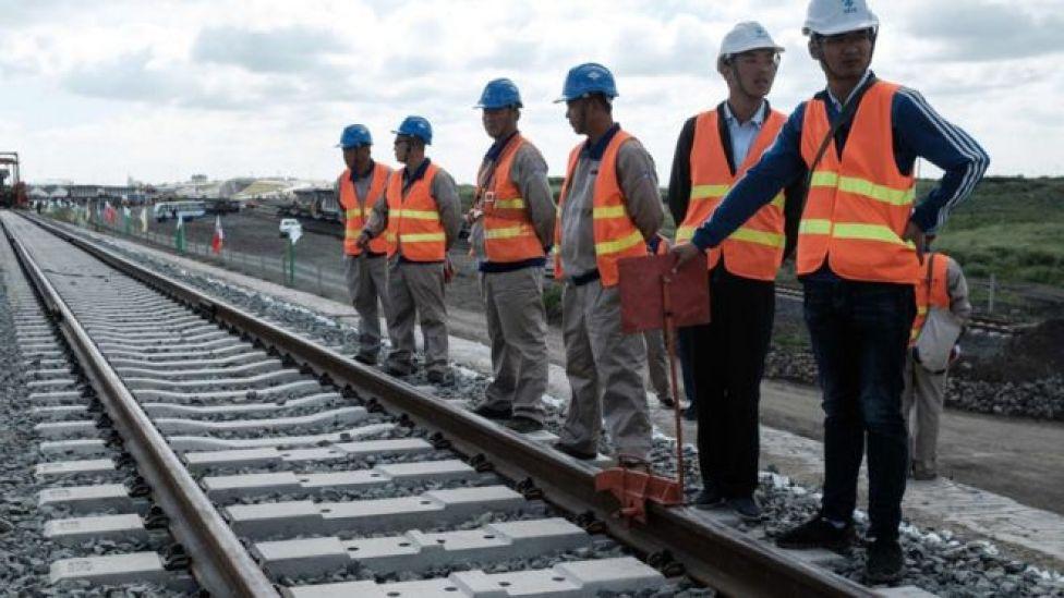 Chinese workers in Kenya