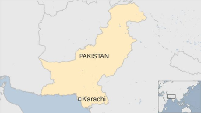 map of Pakistan showing Karachi