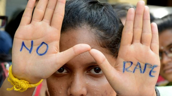 a protester against rape in India