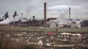 A general view of the steelworks in Port Talbot