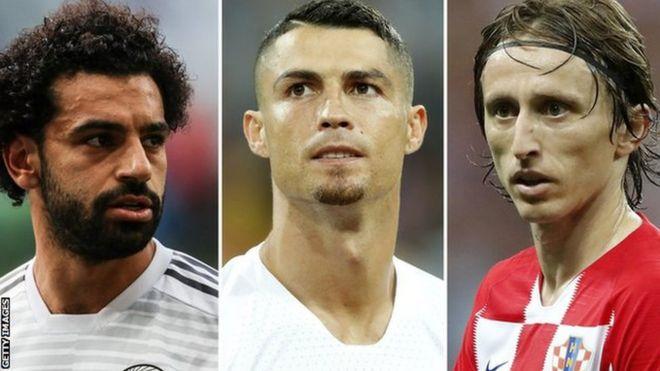 رونالدو وصلاح ومودريتش من يفوز بجائزة أفضل لاعب في العالم