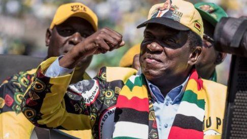Image result for Emmerson Mnangagwa Wins Zimbabwe Election