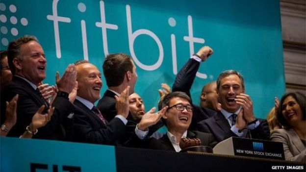 Fitbit chief executive rings the opening bell