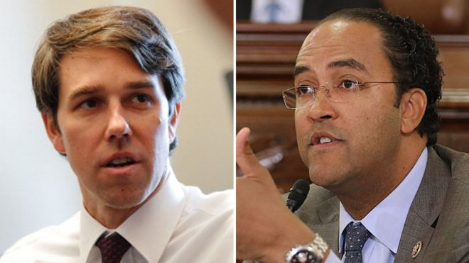 Beto O'Rourke and Will Hurd