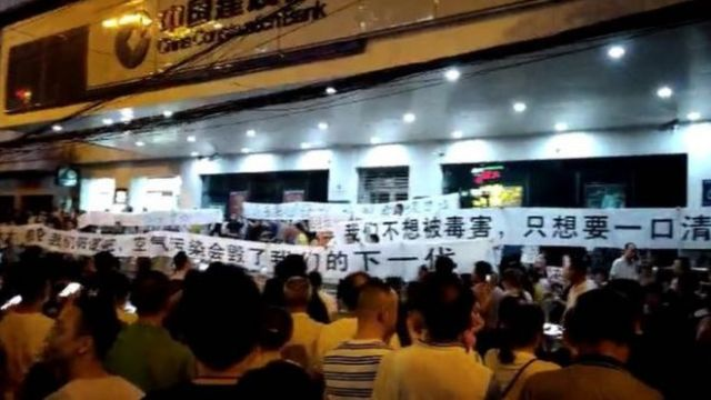 Protest w Wuhan