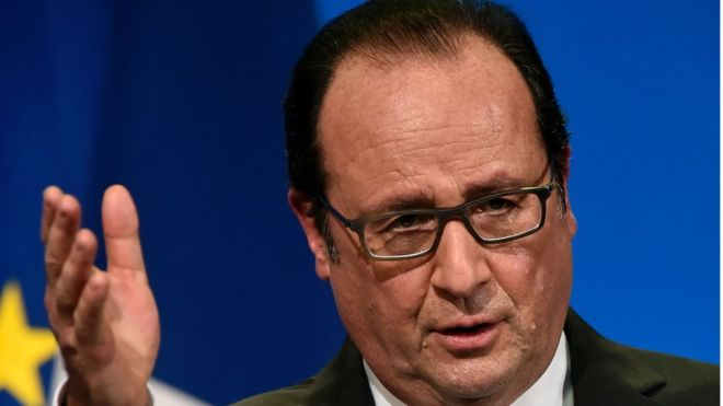President Francois Hollande head shot
