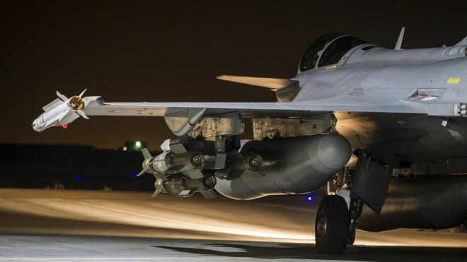 French fighter jet is seen on the runway at an undisclosed location (17 November 2015)
