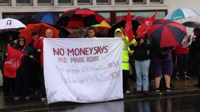 Bus drivers' strike