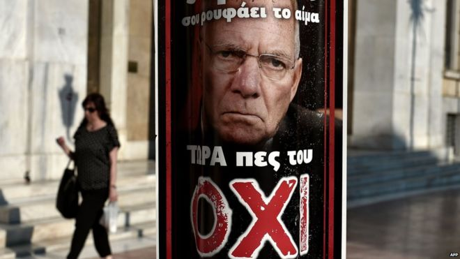 No campaign poster, Athens - 3 Jul 15