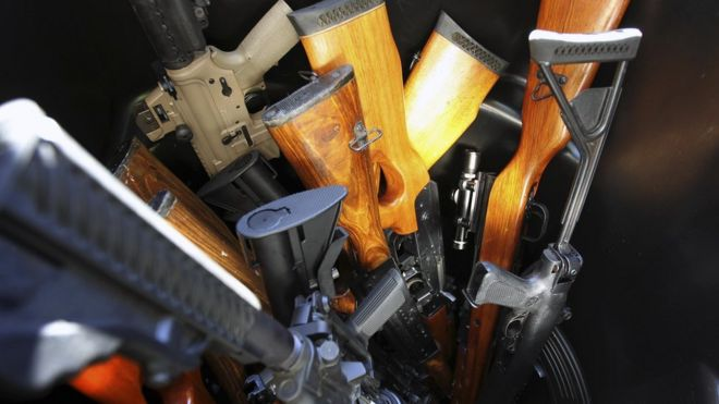 Several rifles