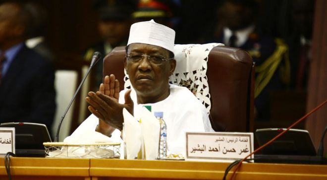 Image result for Chadian president Idriss Deby