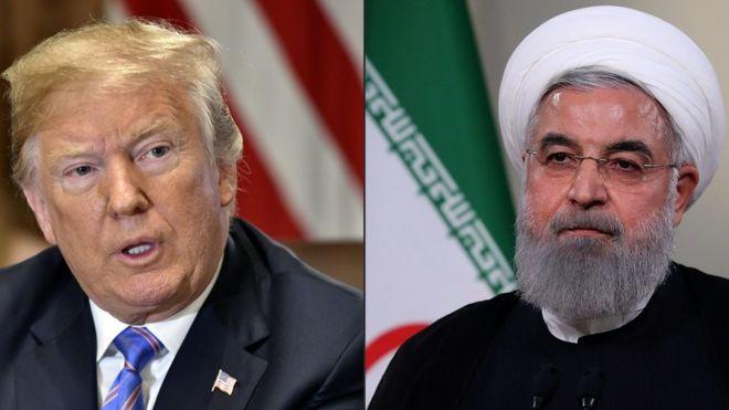 Resultado de imagen para Fotos de Donald Trump y el líder Iraní