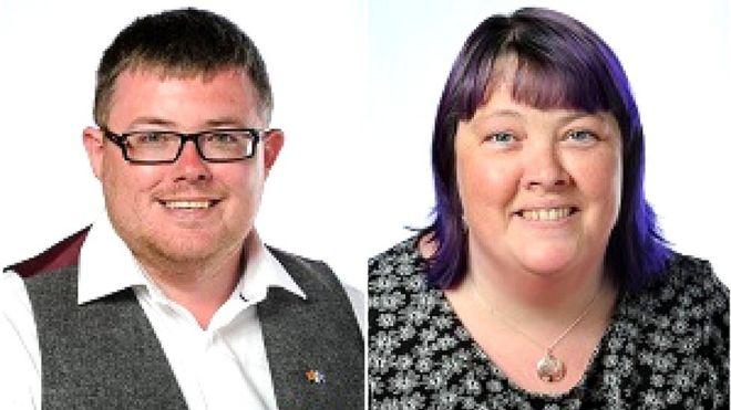 Councillors Michael Cullen and Elspeth Kerr