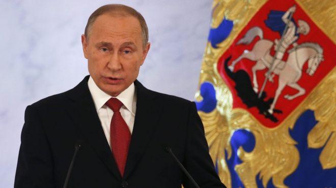 Russian President Vladimir Putin, 1 Dec 16