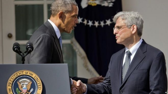President Obama and Judge Merrick Garland 16/03/2016