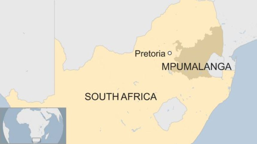 A map showing where Mpumalanga is