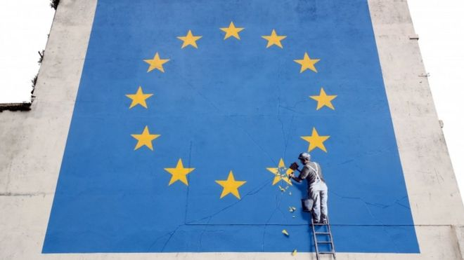Workman chipping away at UK star in EU flag
