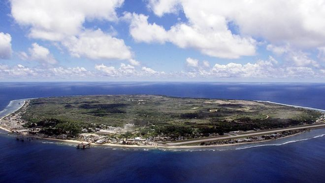 The Pacific island of Nauru