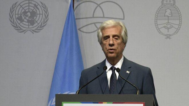 presidente de Uruguay, Tabaré Vázquez,