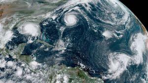 Imagem dos fenômenos registrada por satélite