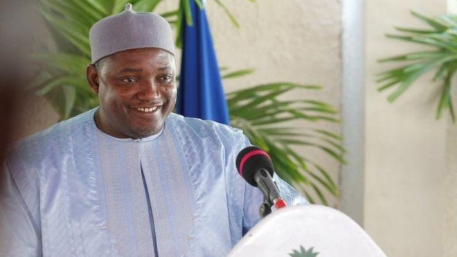 Gambian President Adama Barrow (28 January 2017)