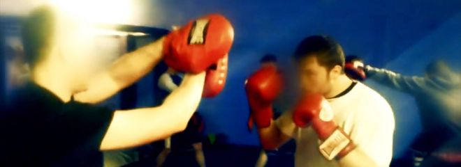 Boxing training - (National Action propaganda video)