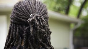 A person with dreadlocks