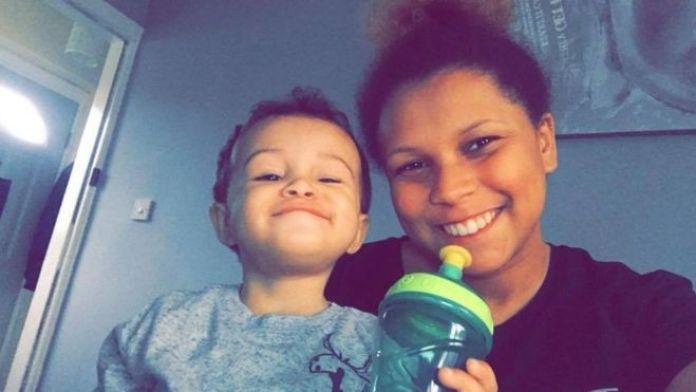 Kia Russell and son Kamari