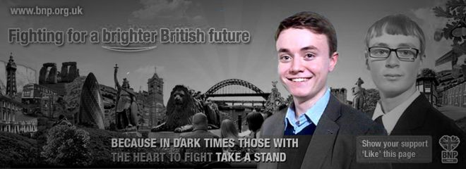 Jack Renshaw - (pictured on a BNP poster)
