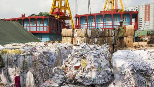 Waste piling up in Hong Kong