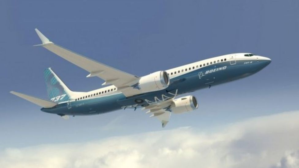 Artists impression of a Boeing 737 Max 8 plane