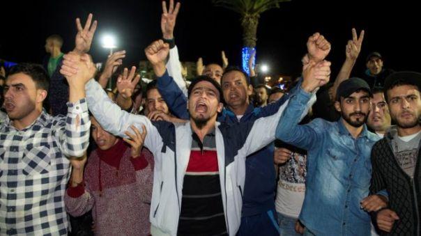 Preotestas en Marruecos.