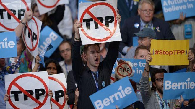 Phản đối TPP tại Philadelphia, Pennsylvania, 25/7/2016