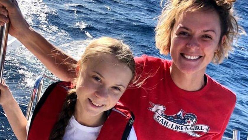 Greta Thunberg and Nikki Henderson