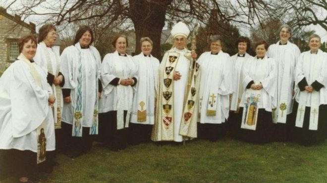 The first women to be ordained as priests at St Asaph cathedral