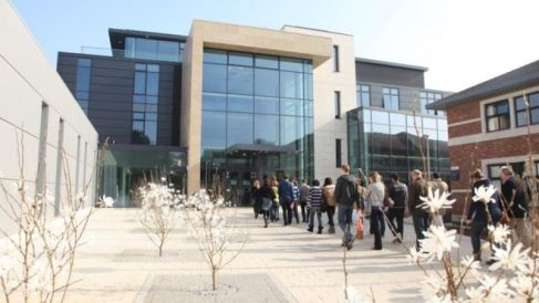 Exeter students in queue