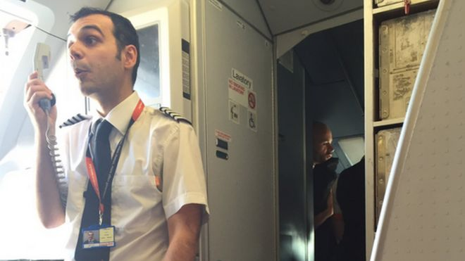 EasyJet captain, taken from BBC website (link below)