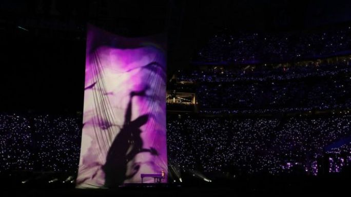Prince images during Justin Timberlake's half time show