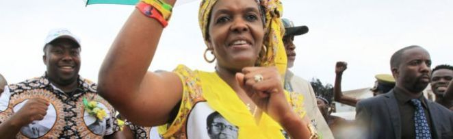 Zimbabwe's first lady Grace Mugabe