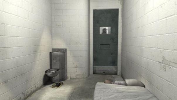 La representación virtual de una celda de confinamiento